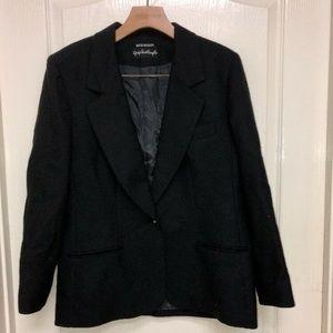 Giorgio Sant Angelo Womens Wool Blazer Sz12 black